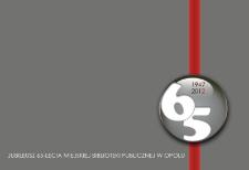 Jubileusz 65-lecia Miejskiej Biblioteki Publicznej w Opolu