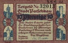 Paczków : [awers:] Notgeld N 32013 Stadt Patschkau. 10 Pf [rewers:] Ratusz