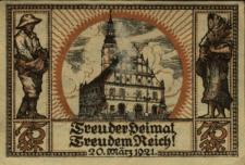 Głogówek : [awers:] Fünfundsiebzig-Pfennig-Schein d. Städt Oberglogau O.S.75Pf [rewers:] Freuder Heimat, Freudem Reich. 75Pf