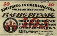 Kluczbork : [awers:] Kreuzburg in Oberschlesien Volksabstimmung 1921. Fünfzig Pfennig [rewers:] Kreuzburg Wurde im.13. Jahrundert Durch