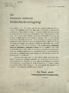 Die Ostdeutsche katholische Volksbüchereitagung