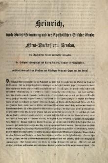 [List pasterski Księcia-Biskupa Wrocławskiego Henryka]