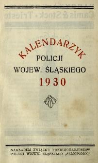 Kalendarzyk Policji Województwa Śląskiego, 1930