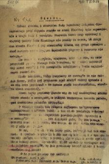 Odezwa [Inc.:] Główną troską i staraniem Rady Narodowej Księstwa Cieszyńskiego... było zapewnienie ładu i porządku... [Expl.:] Dlatego... Rada zarządziła mobilizację...