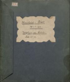 Ministerial - Blatt für die gesamte innere Verwaltung in den königlich preußischen Staaten