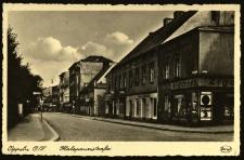 Opole : Malappanerstrasse [fragment ulicy Ozimskiej od strony ulicy Reymonta z nieistniejącym już dzisiaj budynkiem na rogu ulicy]