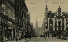 Opole : Ring und Oder - Strasse [północno - zachodnia część rynku z wylotem ul. Koraszewskiego, na wprost kamienica pod nr 11]