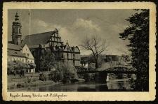 Opole : Evangelische Kirche mit Mülgraben [ Widok na kościół, dziś katolicki, Świętej Trójcy od strony Młynówki]