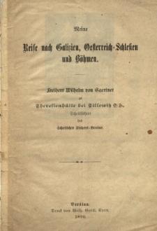 Meine Reise nach Galizien, Oesterreich=Schlesien und Böhmen
