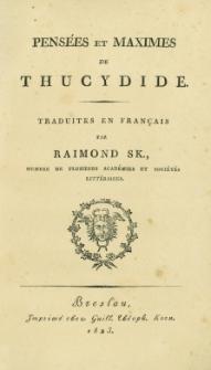 Pensées et Maximes de Thucydide