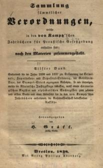 Enthaltend die im Jahre 1836 und 1837 zur Erläuterung der Criminal, Hypotheken und Depositalordnung ..., Bd.11