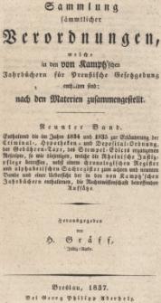 Enthaltend die im Jahre 1834 und 1835 zur Erläuterung der Criminal, Hypotheken und Depositalordnung ..., Bd.9
