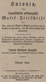 Eutonia : eine hauptsächlich pädagogische Musik= Zeitschrift für Alle, welche die Musik in Schulen zu lehren und in Kirchen zu leiten haben, oder sich ... Bd. 7