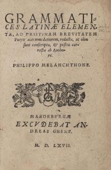 Grammatices Latinae Elementa, Ad Pristinam Brevitatem