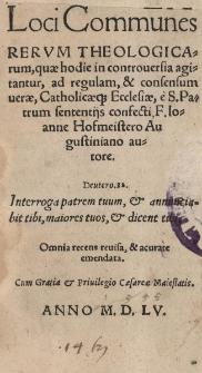 Loci communes Rerum theologicarum