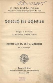 Lesebuch für Schlesien : Ausgabe in drei Teilen für mehrklassige katholische Schulen. 2 Tl. (4. und 5. Schuljahr)