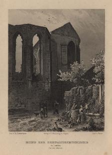 Schlesien. Eine Schilderung des Schlesierlandes: Ruine der Dreifaltigkeitskirche zu Lauban vor dem Abbruch
