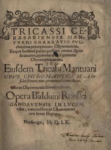 Enarratio pulcherrima principiorum chyromantiae