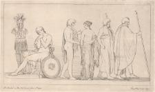 Patroklos przekazuje Bryzeidę heroldom Agamemnona