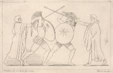 Hektor i Ajas rozdzielani przez heroldów