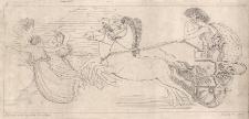 Hera i Atena wyruszają z Olimpu, by pomóc Grekom