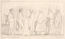 Patroklos i Achilles przyjmują Odyseusza, Ajasa i Fojniksa