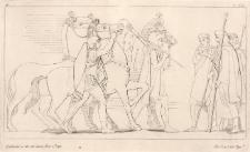 Diomedes i Odyseusz wracają do obozu z rumakami Resosa