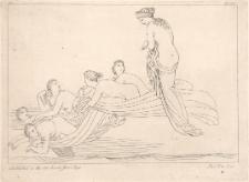Tetyda odsyła swe siostry Nereidy w głąb morza do pałacu Nereusa nakazując, by opowiedziały ojcu o rozpaczy Achillesa po śmierci Patroklosa