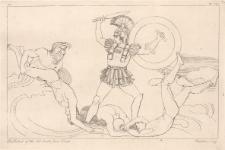 Achilles walczy z bogiem rzeki Skamandrem