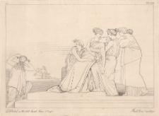Andromacha mdleje na widok zabitego Hektora, ciągniętego za rydwanem Achillesa
