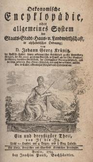 Oekonomische Encyklopädie oder allgemeines System der Staats- Stadt- Haus- und Landwirthschaft, in alphabetischer ordnung