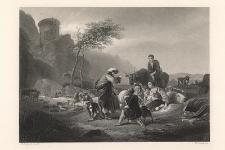 Laban et ses serviteurs / Laban and his People / Laban und sein Gesinde / Laban ze służbą