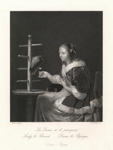 La Dame et la perroquet /Lady & Parrot / Dame und Papagei / Dama z Papugą