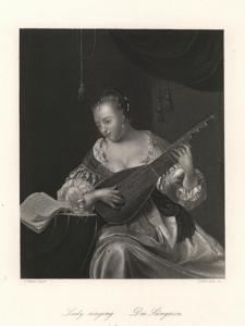 Lady singing / Die Sängerin / Śpiewaczka