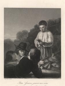 Petits Garçons jouant aux cartes / Boys Playing / Spielende Burschen / Młodzi gracze