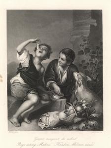 Garçons mangeant des melons / Boys eating melons / Knaben Melonen essend