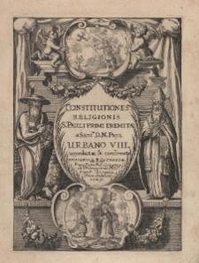 Constitutiones religionis S.Pauli Primi Eremitae a Sant. D.N.Papa Urbano VIII aprobatae et confirmatae
