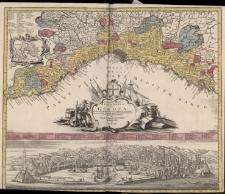 LO STATO DELLA REPUBLICA DI GENOVA Giusta la di lui divisione in contorno orientale et occidentale geograficamente rappresentato et di nuovo dato in luce da TOBIA CUNRADO LOTTERO, GEOGRAPHO IN.
