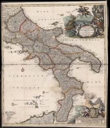 Novissima et exactissima Totius Regni Neapolis Tabula Praesentis Belli Statui Accomodata et Exhibita a Ioanne Bapt.Homanno.