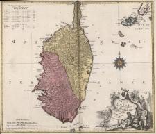 L'Isle De Corse avec les differents Districts, apparten ante a La Republique De Genes, mais divisée et soulevee depius plusieurs armées Donne au jour par Tobie Conrad Lotter, Geographe a Augsburg