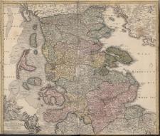 Ducatus Slesvicensis in omnes ejusdem Generales et Particulares Praefecturas exacte divisi Nova Tabula edita a Ioh.Baptista Homanno