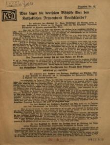 Was sagen die detuschen Bischöfe über den Katholischen Frauenbund Deutschlands. Flugblatt Nr.16