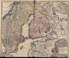 Regni Sueciae in omnes suas Subjacentes Provincias accurate divisi Tabula Generalis edita a Ioh.Bapt.Homanno.