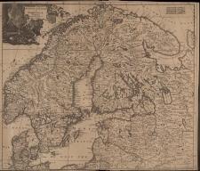 Accuratissima Regnorum Sueciae, Daniae et Norvegiae, Tabula Per Iustinum Danckerts, Cum Privilegio.