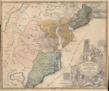 Virginia Marylandia et Carolina in America Septentrionali Britannorum industria excultae repraesentatae