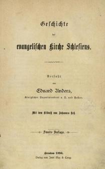 Geschichte der evangelischen Kirche Schlesiens