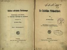 Schlesiens volkstümliche Überlieferungen : Sammlungen und Studien der Schlesischen Gesellschaft für Volkstunde : Bd.1. Die Schlesischen Weihnachtspiele