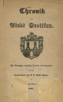 Chronik der Stadt Grottkau : mit Benutzung amtlicher Quellen