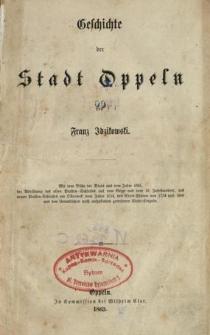 Geschichte der Stadt Oppeln