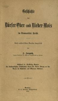 Geschichte der Dörfer Ober- und Nieder-Mois in Neumarkter Kreise